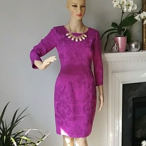 Antonio Melani midi purple embroidered dress